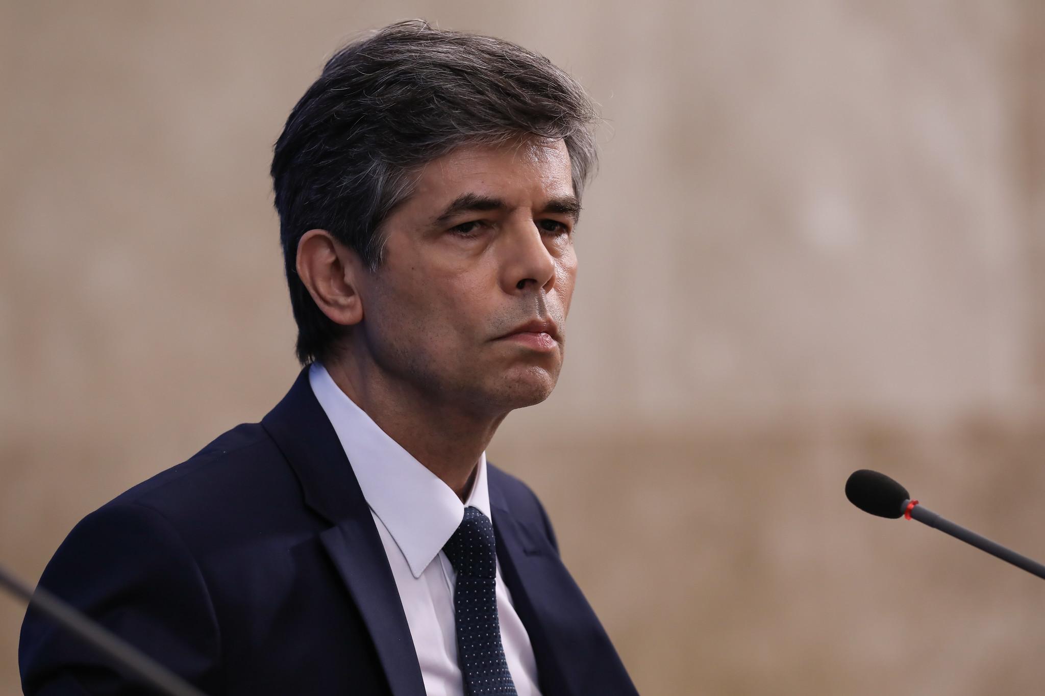 O ex-ministro da Saúde, Nelson Teich, em coletiva de imprensa em Brasília. Foto: José Dias/PR (28.abr.2020)
