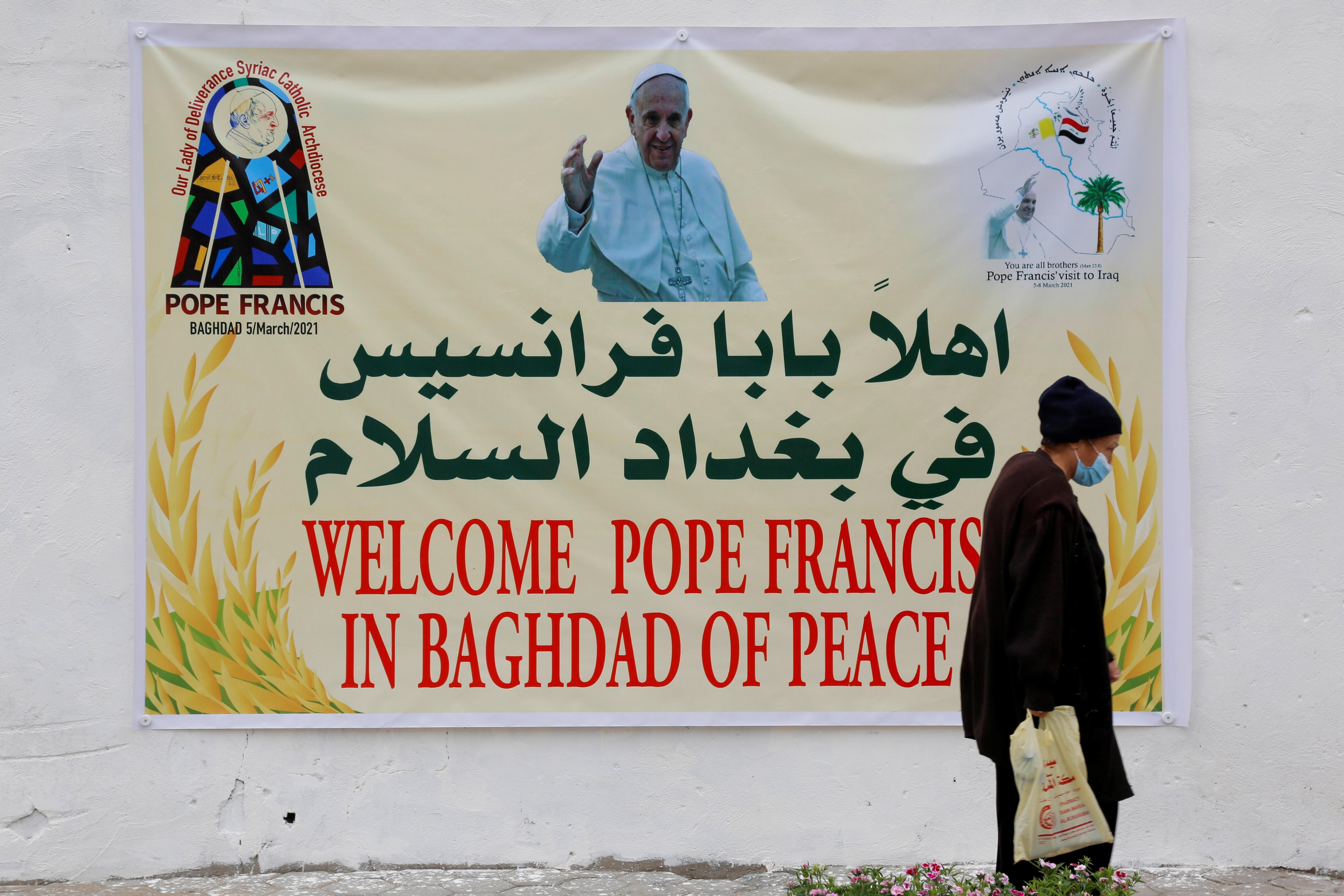 Papa Francisco visita Iraque em meio à pandemia de Covid