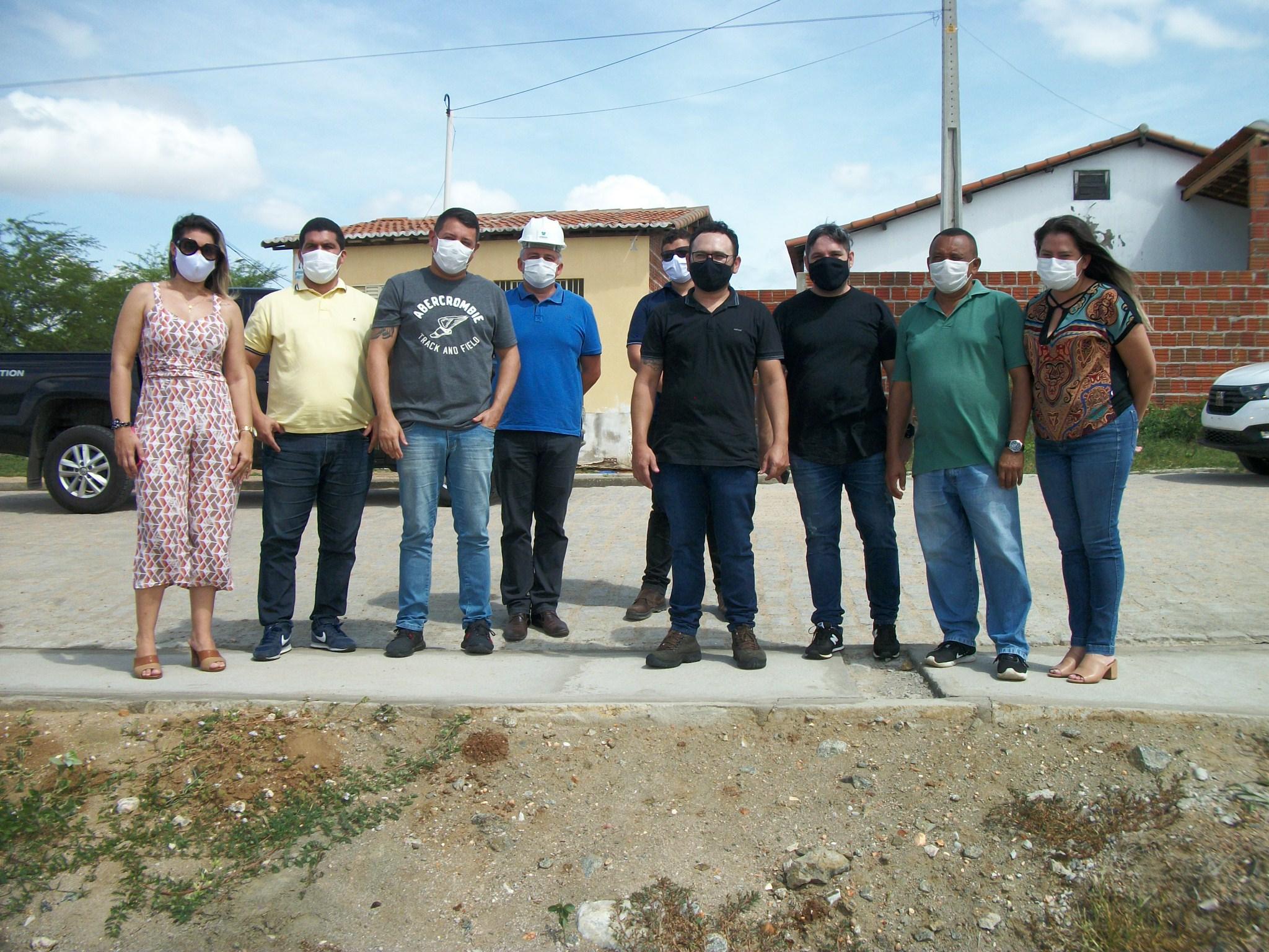 Fernando Pedroza: Engenheiros da CEHAB fazem visita técnica para iniciar a construção de 15 casas populares